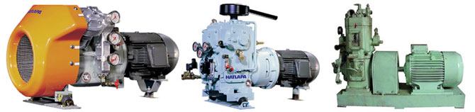 Air and water cooled marine compressors.