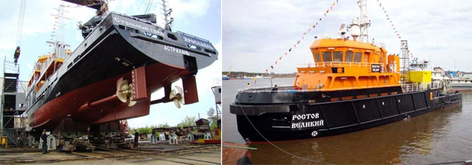 supply of diesel engines and other ship equipment for a range of new diving support vessels